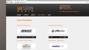 Website client portfolio